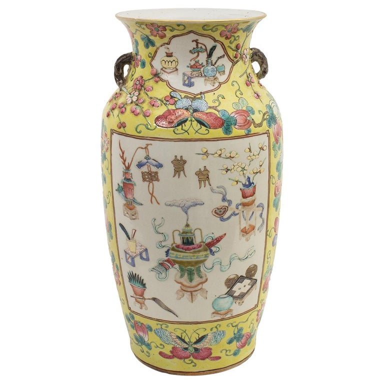 Chinese Polychrome Vase, China, Early 20th Century For Sale
