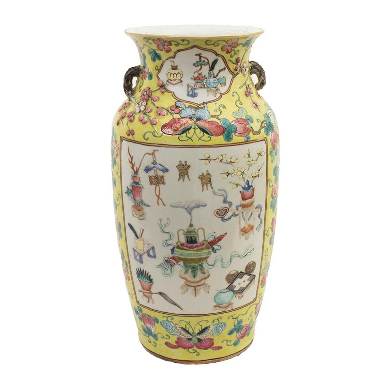 Chinese Polychrome Vase, Early 20th Century For Sale