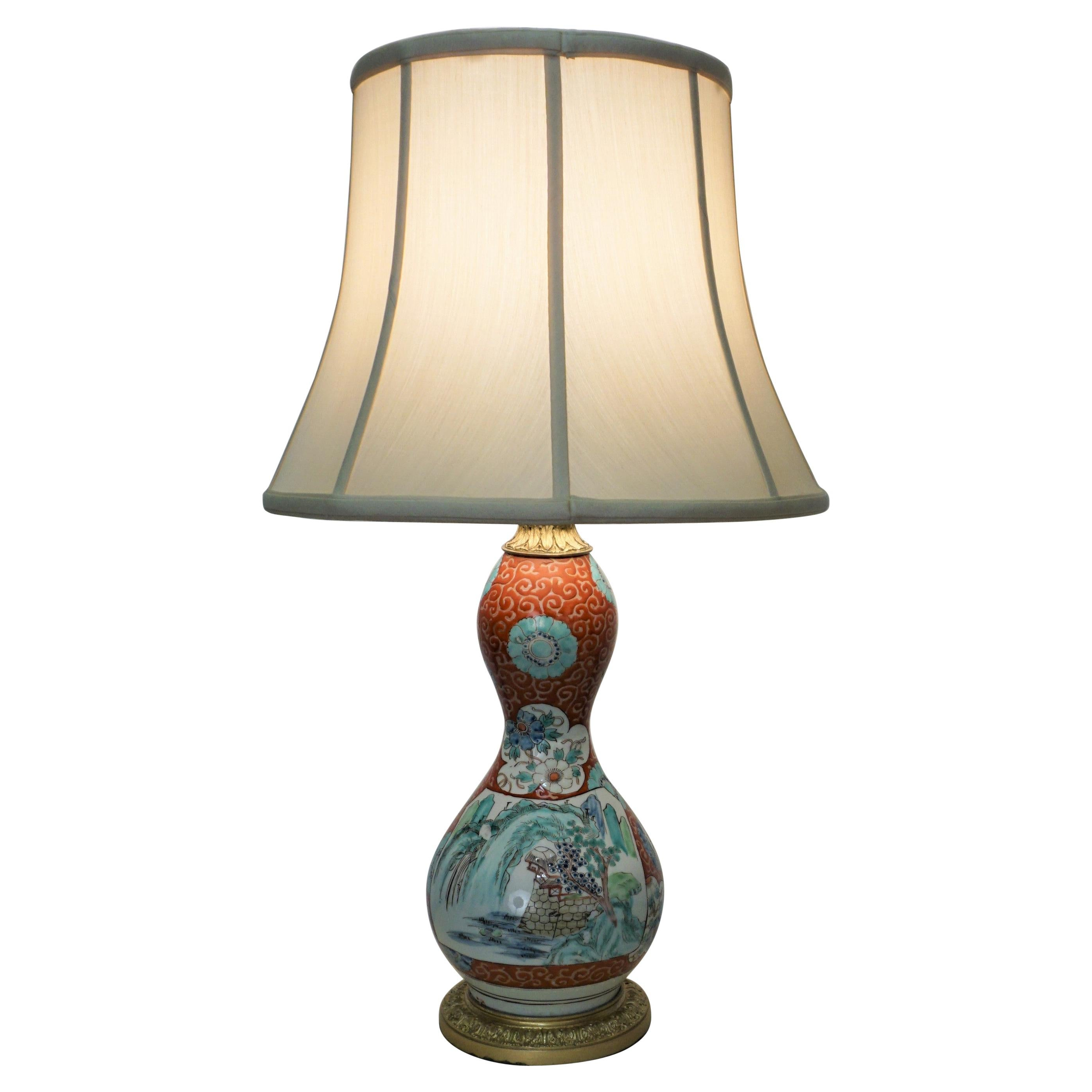 Chinese Porcelain and French Bronze Mounting Table Lamp