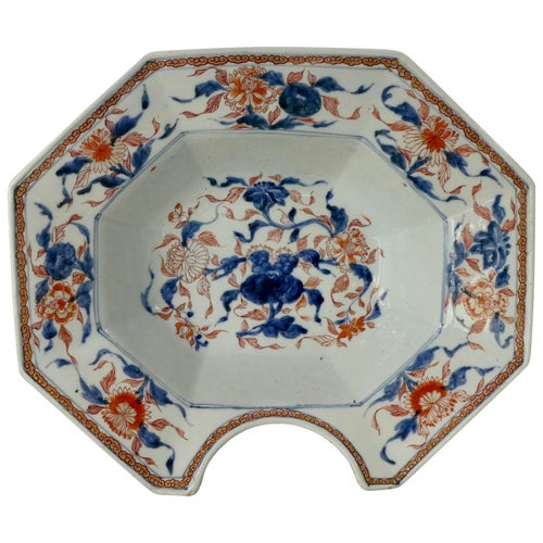 Chinese Porcelain Barbers Bowl, Chinese Imari Decoration, Kangxi Period