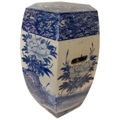 Chinese Porcelain Blue and White Garden Seat