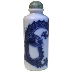 Chinese Porcelain Dragon Snuff Bottle, 19th Century