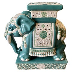 Chinese Porcelain Elephant Garden Stool Seat
