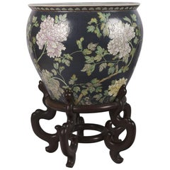 Chinese Porcelain Floral Pattern Fish Bowl