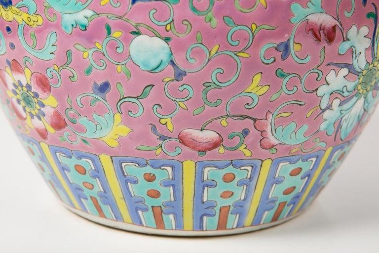 Chinese Porcelain Ginger Jar Famille Rose For Sale 2