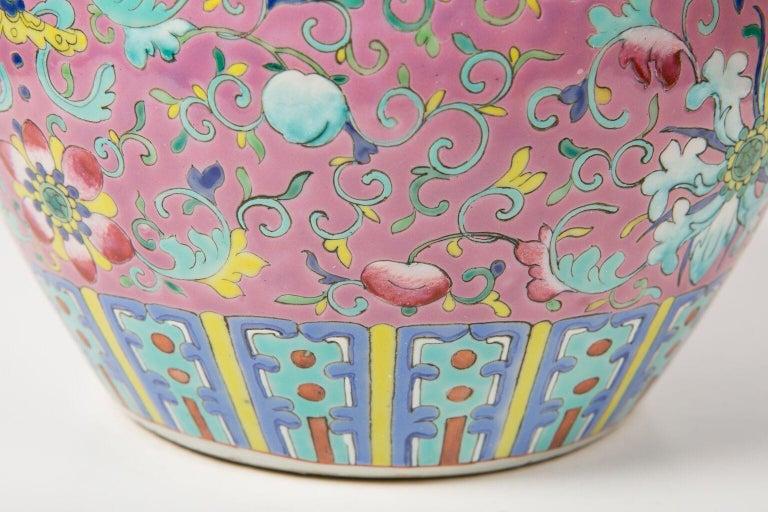 Chinese Porcelain Ginger Jar Famille Rose For Sale 3