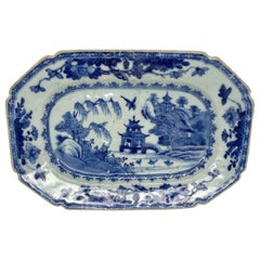 Chinese Porcelain Meat Plate, circa 1760, Qianlong Period
