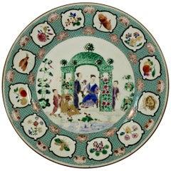 Chinese Porcelain Plate 'Arbor', Cornelis Pronk, circa 1738