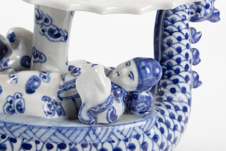 Chinese Export Chinese Porcelain Representative a Dragon Walking a Couple For Sale