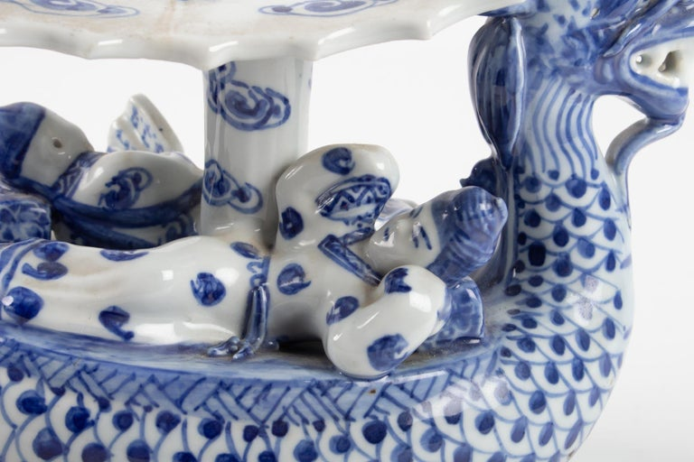 Chinese Porcelain Representative a Dragon Walking a Couple For Sale 2