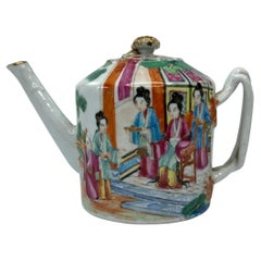 Chinese Porcelain Teapot, Cantonese, c. 1850