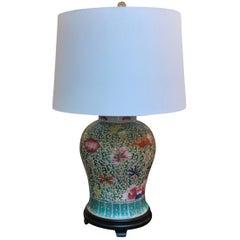 Chinese Porcelain Temple Jar Lamp