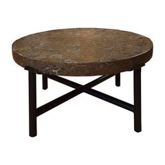 Chinese Puddingstone Top Low Table