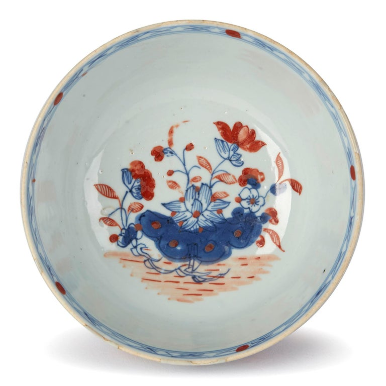 Chinese Qianlong Overdecorated Porcelain Bowl, 18th Century For Sale 2