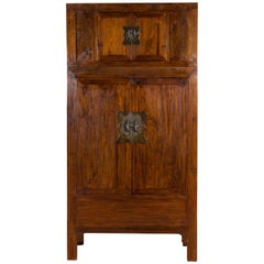 Chinese Qing Dynasty 19th Century Compound Cabinet with Drawers and Hidden Panel