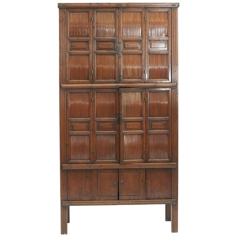 "Chinese Qing Dynasty ""Kitchen"" Cabinet, 1840-1860 For Sale"
