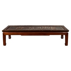 Chinese Qing Dynasty Period Shop Sign with Calligraphy Made into a Coffee Table