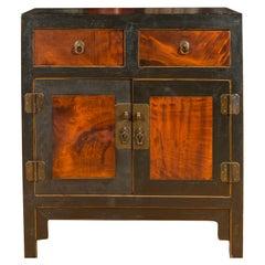 Chinese Qing Dynasty Two-Toned Cabinet with Two Drawers Over Double Doors