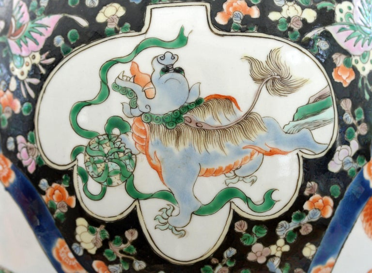 Chinese Qing Guangxu Famille Noire Porcelain Baluster Dragon Vase For Sale 13