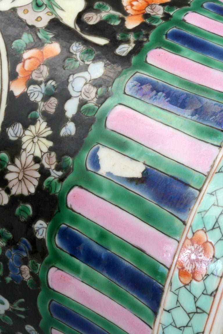 Chinese Qing Guangxu Famille Noire Porcelain Baluster Dragon Vase For Sale 4
