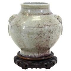 Chinese Qing Style Celadon Ceramic Jar Vase