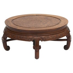 Chinese Qing Style Coffee Table in Blackwood and Root Wood