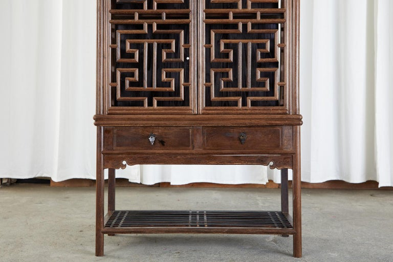 Chinese Qing Style Open Fretwork Kitchen Cabinet For Sale 4