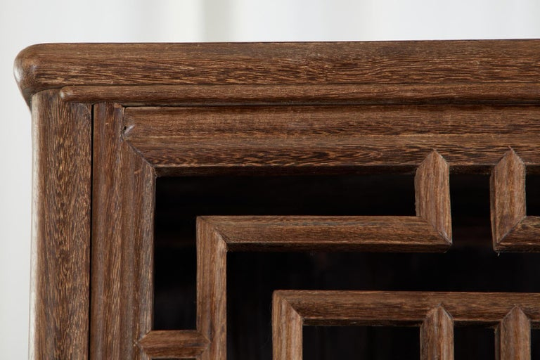 Chinese Qing Style Open Fretwork Kitchen Cabinet For Sale 11