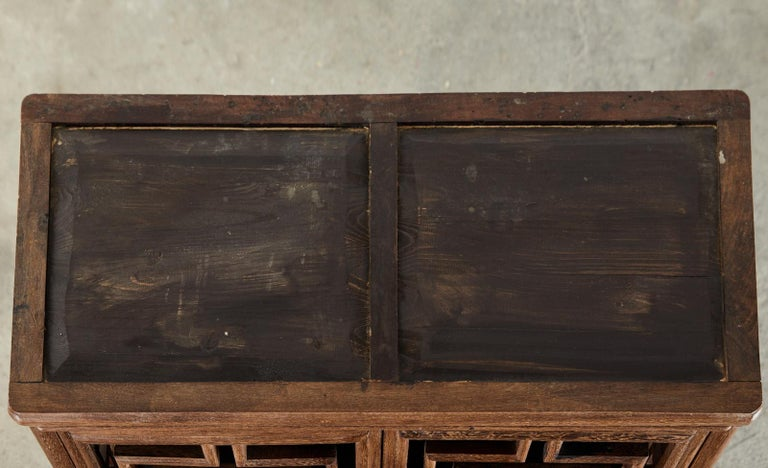 Chinese Qing Style Open Fretwork Kitchen Cabinet For Sale 1