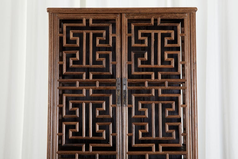 Chinese Qing Style Open Fretwork Kitchen Cabinet For Sale 3