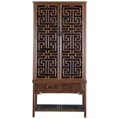 Chinese Qing Style Open Fretwork Kitchen Cabinet