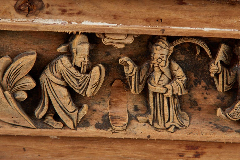 Chinese Qing Style Relief Carved Window Panel For Sale 10