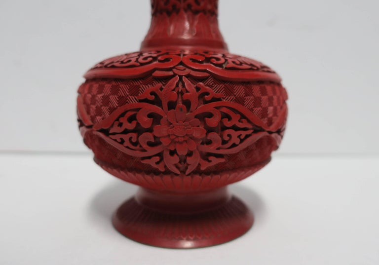 Chinese Red Cinnabar Vase For Sale At 1stdibs