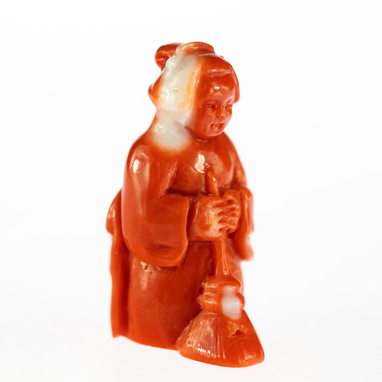 Red Coral has always been one of the most loved materials by humanity, and the level of craft in these art pieces is stunning.