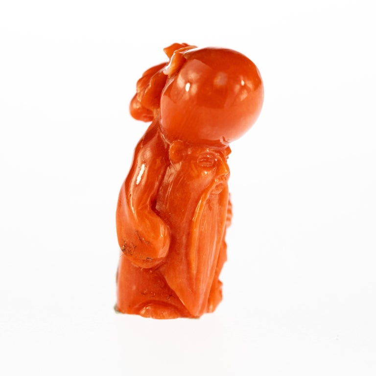 Red Coral has always been one of the most loved materials by humanity, and the level of craft in these art pieces is stunning.  These small miniatures are an example of artisan craft at its best, as you can see by the level of detail in these