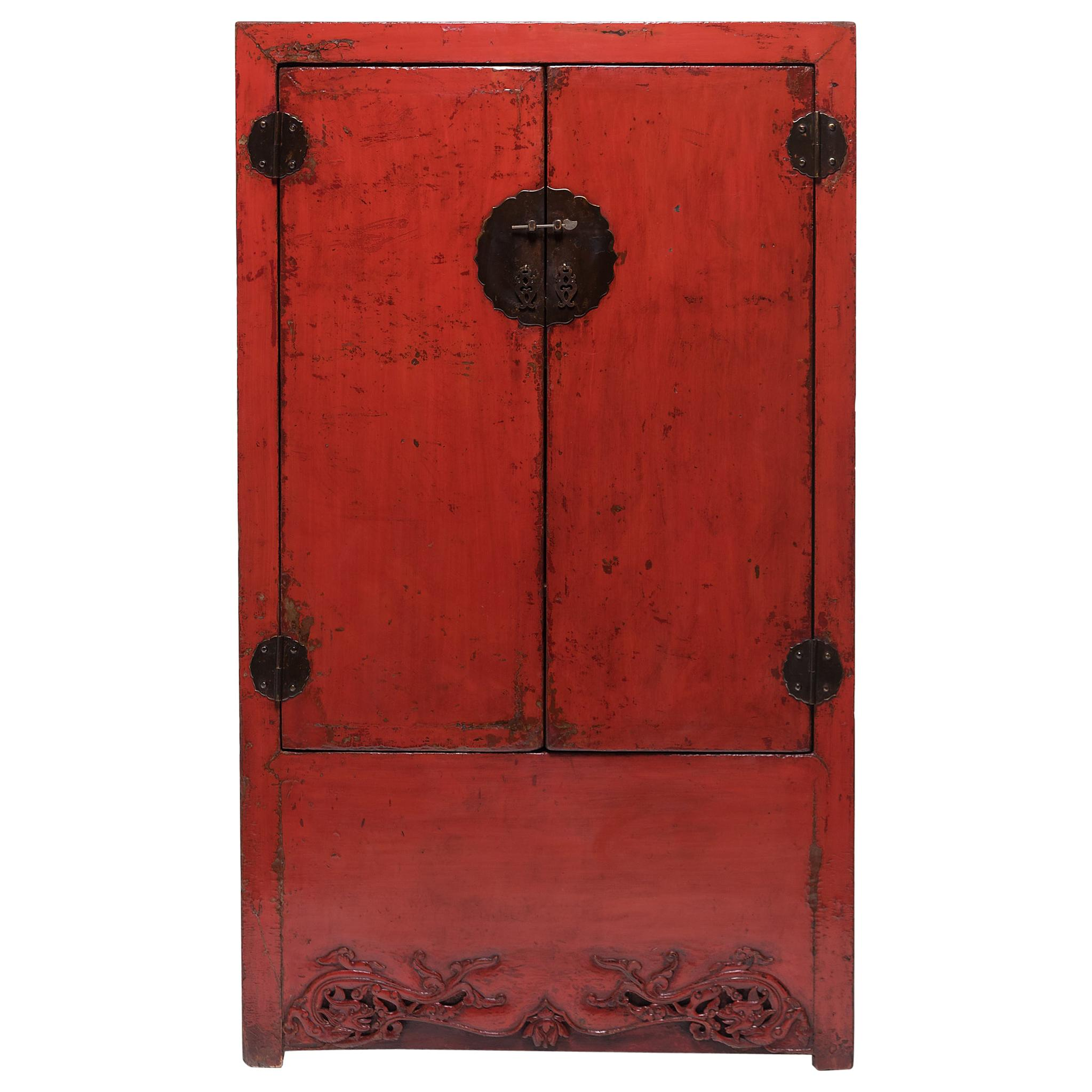 Chinese Red Lacquer Cabinet, c. 1850