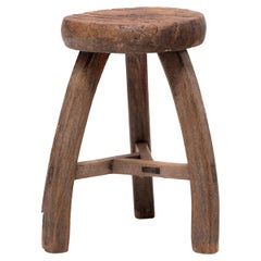 Chinese Rift-Cut Saddle Stool, circa 1900