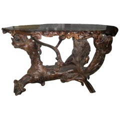 Chinese Root Carved Table