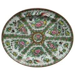 Chinese Rose Medallion Enamel and Gilt Decorated Porcelain Platter, circa 1890
