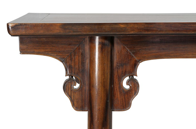 Chinese Rosewood Altar Table In Good Condition For Sale In Essex, MA