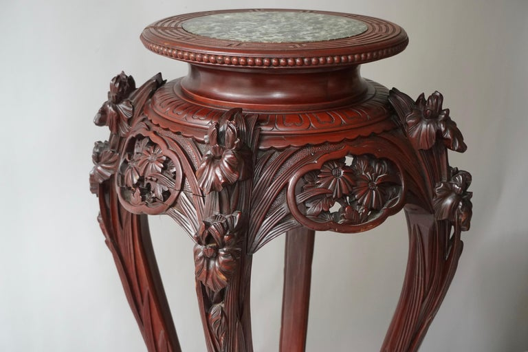 Chinese Rosewood Country House Pedestal For Sale 9