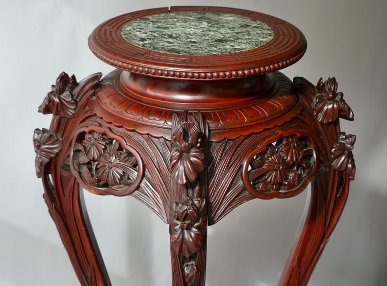 Chinese Rosewood Country House Pedestal For Sale 11