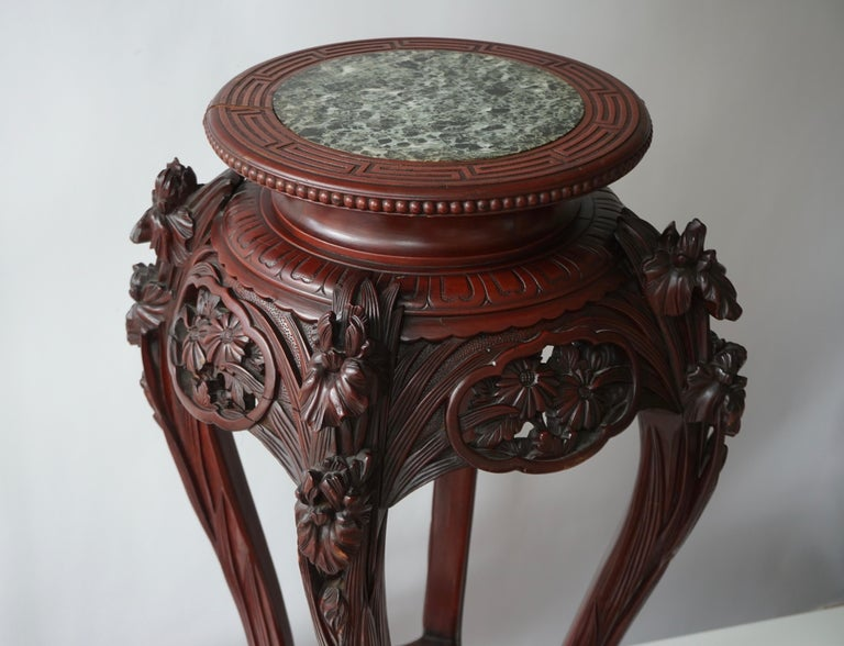 Chinese Rosewood Country House Pedestal For Sale 12