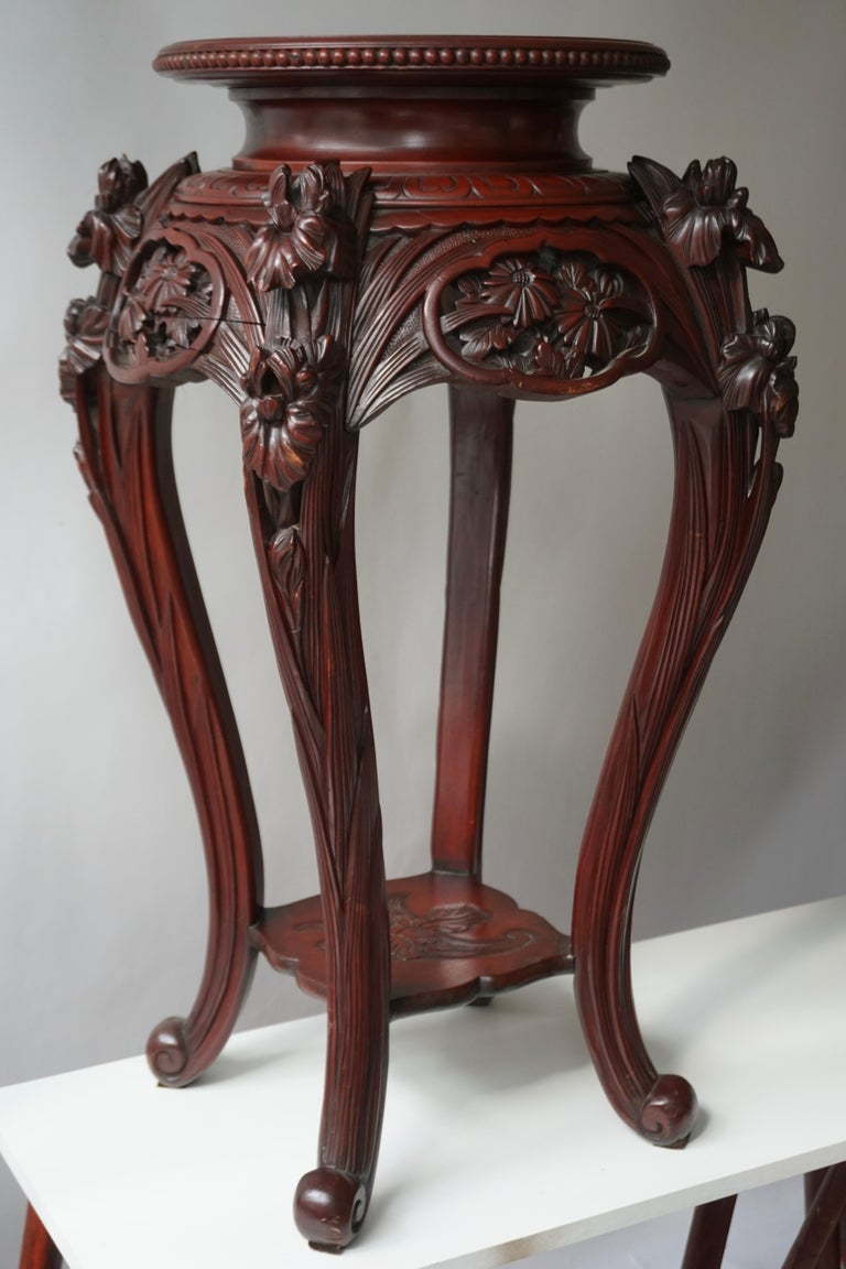 Chinese Rosewood Country House Pedestal In Good Condition For Sale In Antwerp, BE