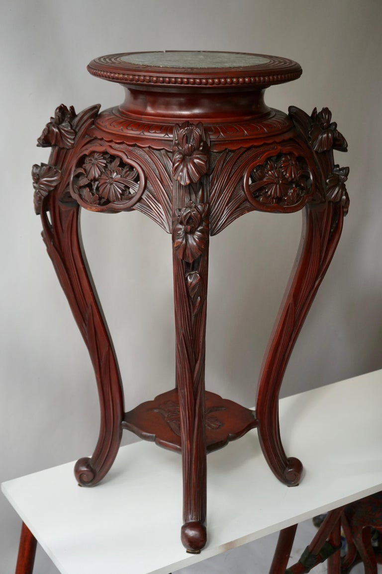 Chinese Rosewood Country House Pedestal For Sale 1