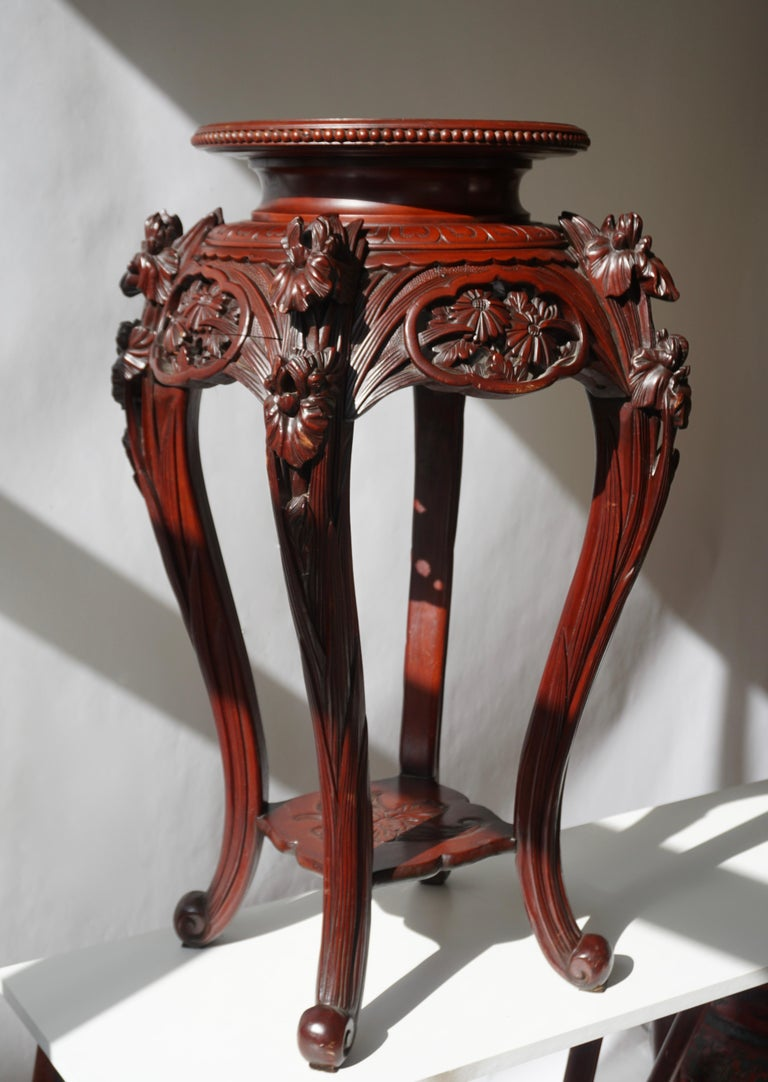Chinese Rosewood Country House Pedestal For Sale 2