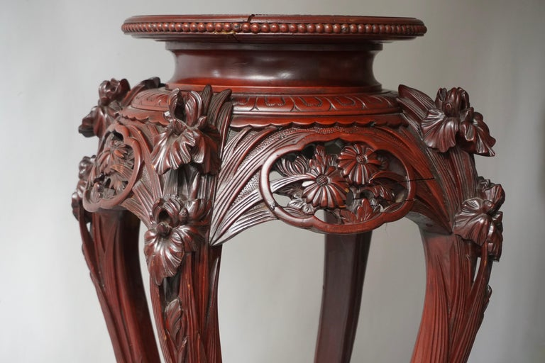 Chinese Rosewood Country House Pedestal For Sale 4