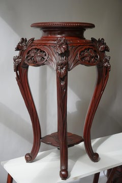 Chinese Rosewood Country House Pedestal