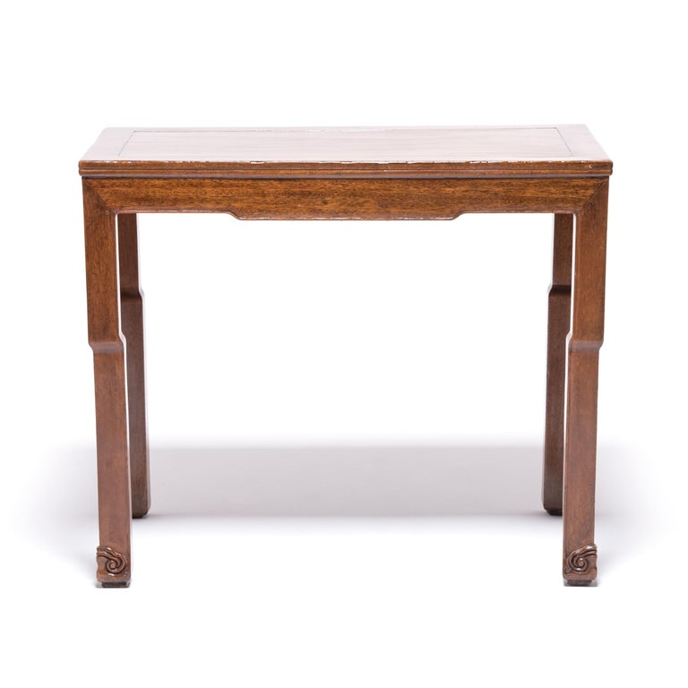 Qing Chinese Rosewood Whiplash Table For Sale