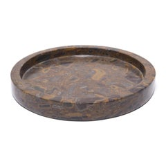 Chinese Round Puddingstone Tray